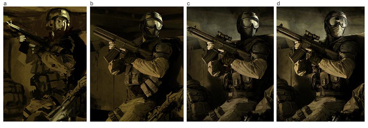 図08:2人めの兵士の4つのバリエーション