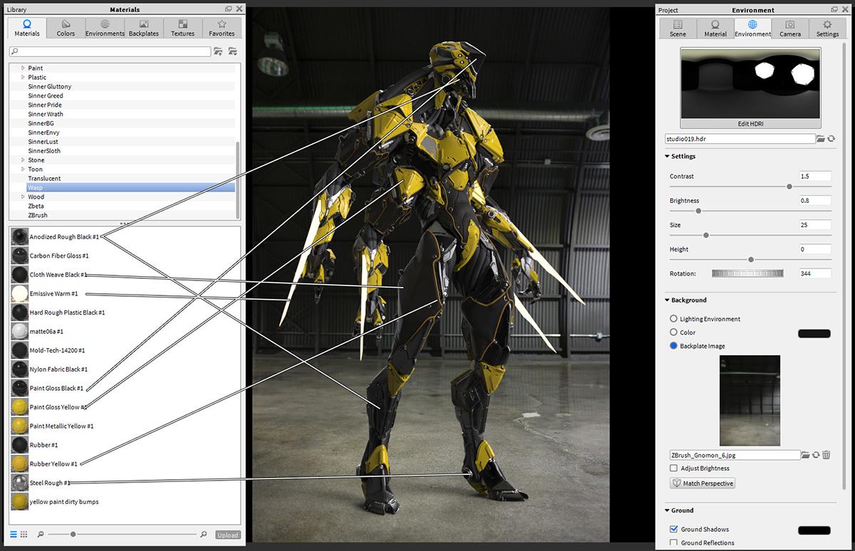 図04a:KeyShot にモデルを読み込み、セットアップ