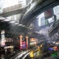 コンセプトアート『未来の市場』のメイキング